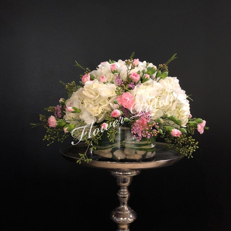 White And Pink Spring Arrangement